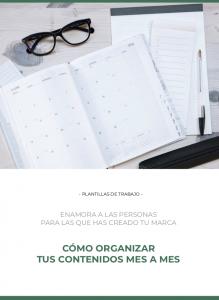 cómo organizar tus contenidos mes a mes hoja de trabajo - Lucía Horvilleur