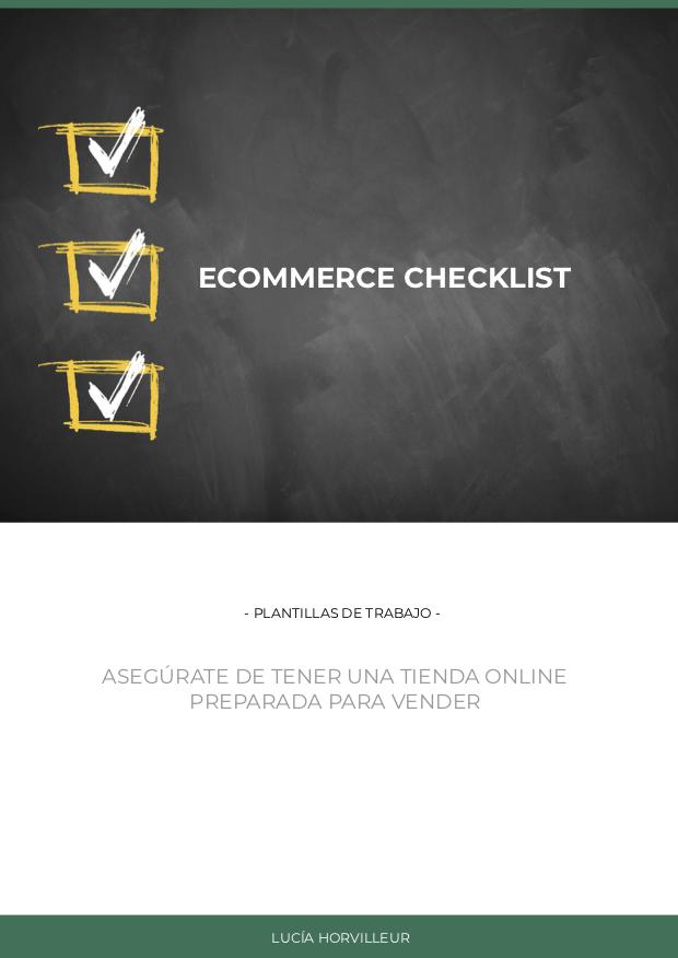 Checklist ecommerce que vende - Lucia Horvilleur