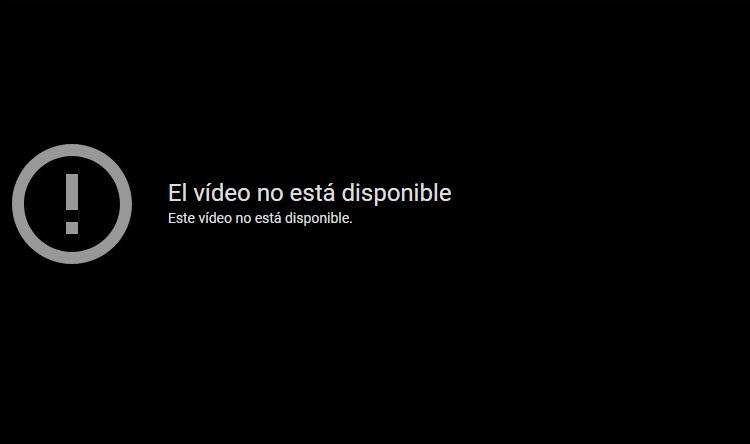 video no disponible